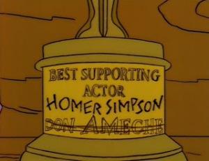 homer simpson oscar statue don ameche